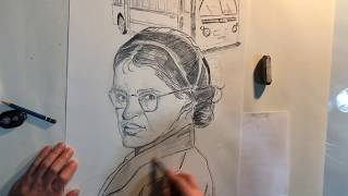 Rosa Parks - Civil Rights movement -pencil drawing