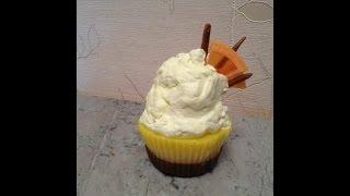 """Мыловарение. Мыло кекс с кремом. Мыло """"Cupcake""""."""
