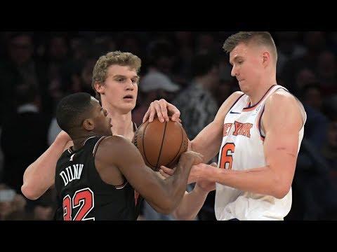 Lauri Markkanen 33 Points Career High Double OT vs Knicks! 2017-18 Season