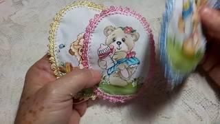Crochê para medalhão de fralda