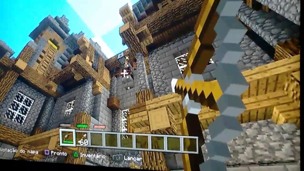 Jogando Minecraft no Ps12 online - YouTube
