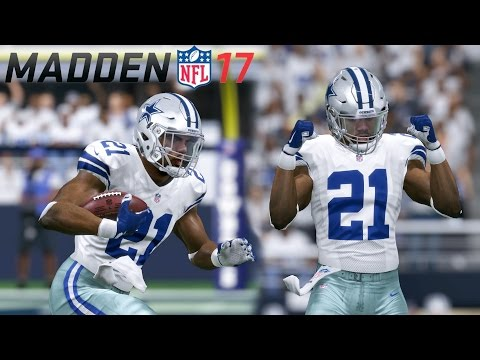 EZEKIEL ELLIOT'S WEEK 1 DEBUT FOR THE DALLAS COWBOYS  - MADDEN 17 CONNECTED FRANCHISE GAMEPLAY