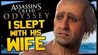 This is Assassin's Creed Odyssey and I slept with his wife