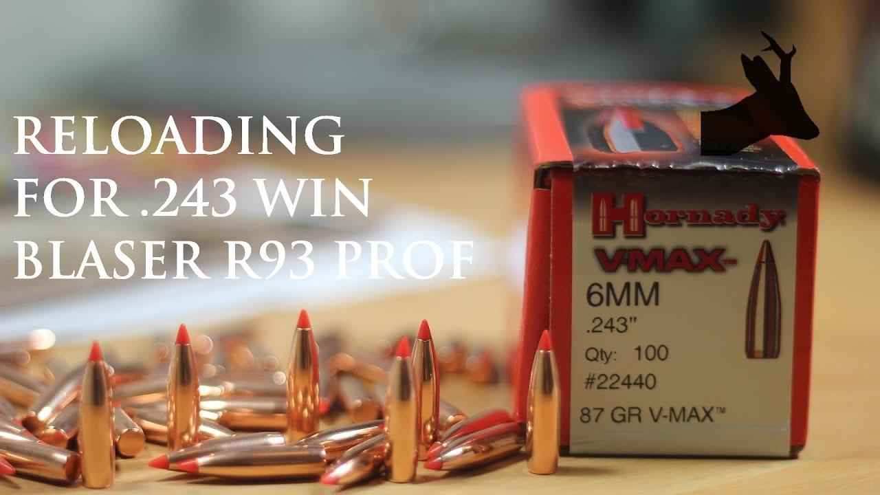 243 reloading: Blaser R93 Professional deer hunting rifle  Elaboracja  amunicji myśliwskiej