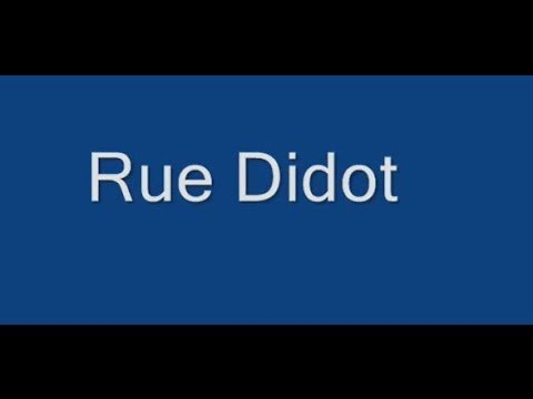 Rue Didot Paris Arrondissement 14e
