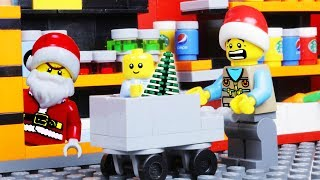 LEGO CHRISTMAS TREE SHOPPING WITH BABY STOP MOTION