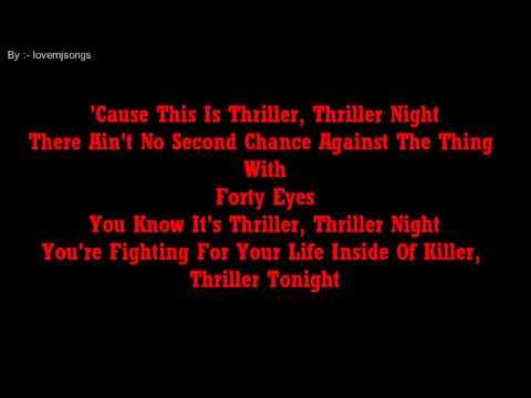 Michael Jackson - Thriller (lyrics)
