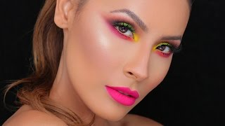 NEON | FESTIVAL MAKEUP LOOK | DESI PERKINS