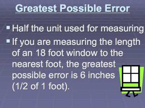 Precision error tolerance