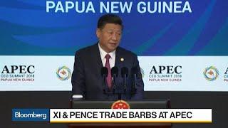 Xi and Pence Trade Barbs at APEC Summit