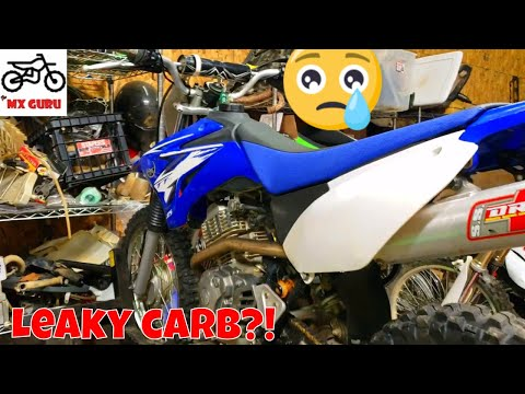 Fixing a leaky carburetor ! 2009 Yamaha TTR 125 | Float / Needle