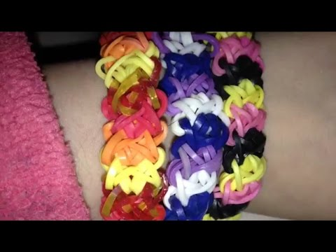 rainbow loomdouble quotxquot bracelet tutorial youtube