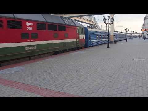 Отправление поезда из Бреста на Гомель.