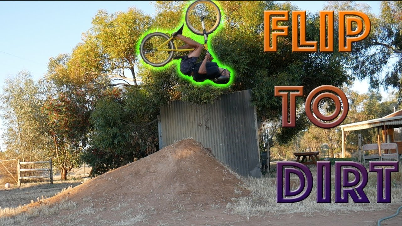 trying a backflip to dirt youtube