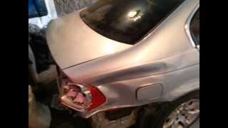 BMW В хлам. Ремонт  своими руками в гараже(Как восстановить автомобиль после аварии. Замена телевизора, фары, часть ланжерона, капот, переднее левое..., 2013-11-16T18:49:37.000Z)