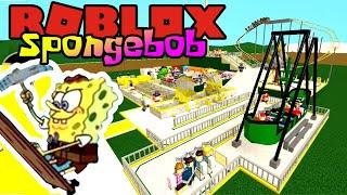 SPONGEBOB BANGUN TAMAN HIBURAN KRUSTY KRAB! 😎 - Roblox Spongebob Indonesia