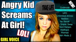 Black Ops 2 Angry Kid 1v1 Girl And Calls Her A RAT! (Girl Voice Trolling) XBOX ONE!