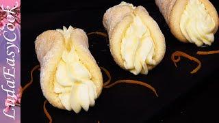 ПАЛОЧКА-ВЫРУЧАЛОЧКА! Красивые бисквитные пирожные с кремом панкейки со сливочным АПЕЛЬСИНОВЫМ кремом