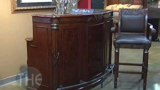 Island Style Transitional Wood Bar Set, 'havana Bay' Collection By Primo-design