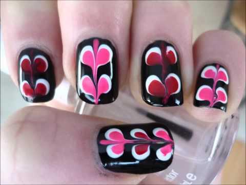 "easy  unique valentine's day ""valentine heart"" nail art"