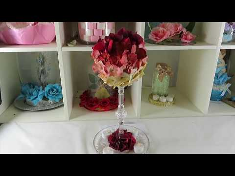 Centro de mesa muy fácil de hacer para boda ó XV
