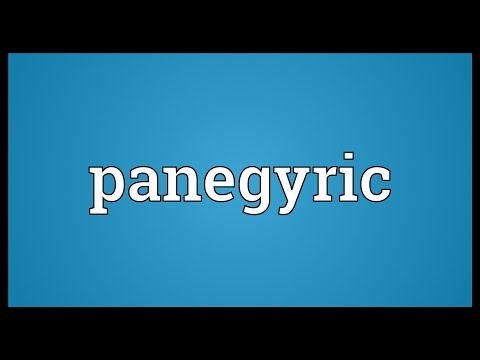 Panegyric Meaning