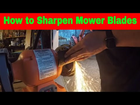 How To Sharpen Mower Blades Kubota Z421 #34 - YouTube