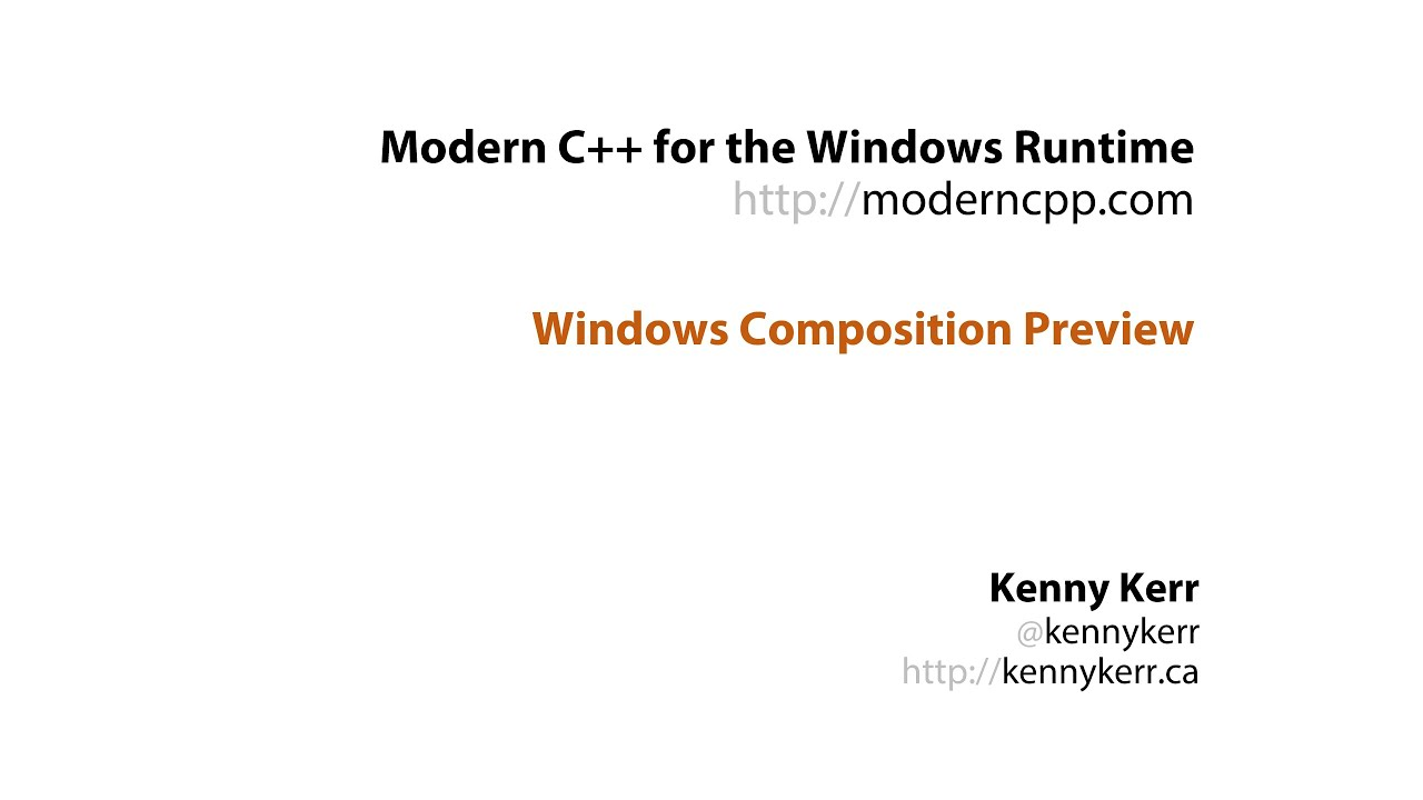 C++/WinRT | Modern C++ for the Windows Runtime | Page 2