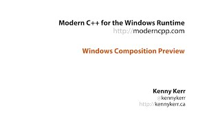 Universal Windows Apps with Standard C++