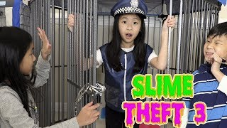Pretend Play Police LOCKED UP Kaycee for STEALING SLIME Part 3