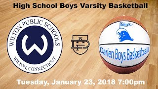 Darien Varsity Boys Basketball vs. Wilton