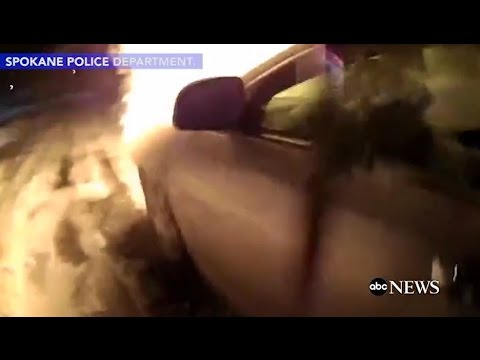 Officer Pulls Woman From Burning Car BODY CAM FOOTAGE | ABC News