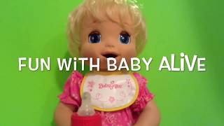 Baby Alive 2006 Soft Face Doll Feeding and Diaper Change with Beatrix