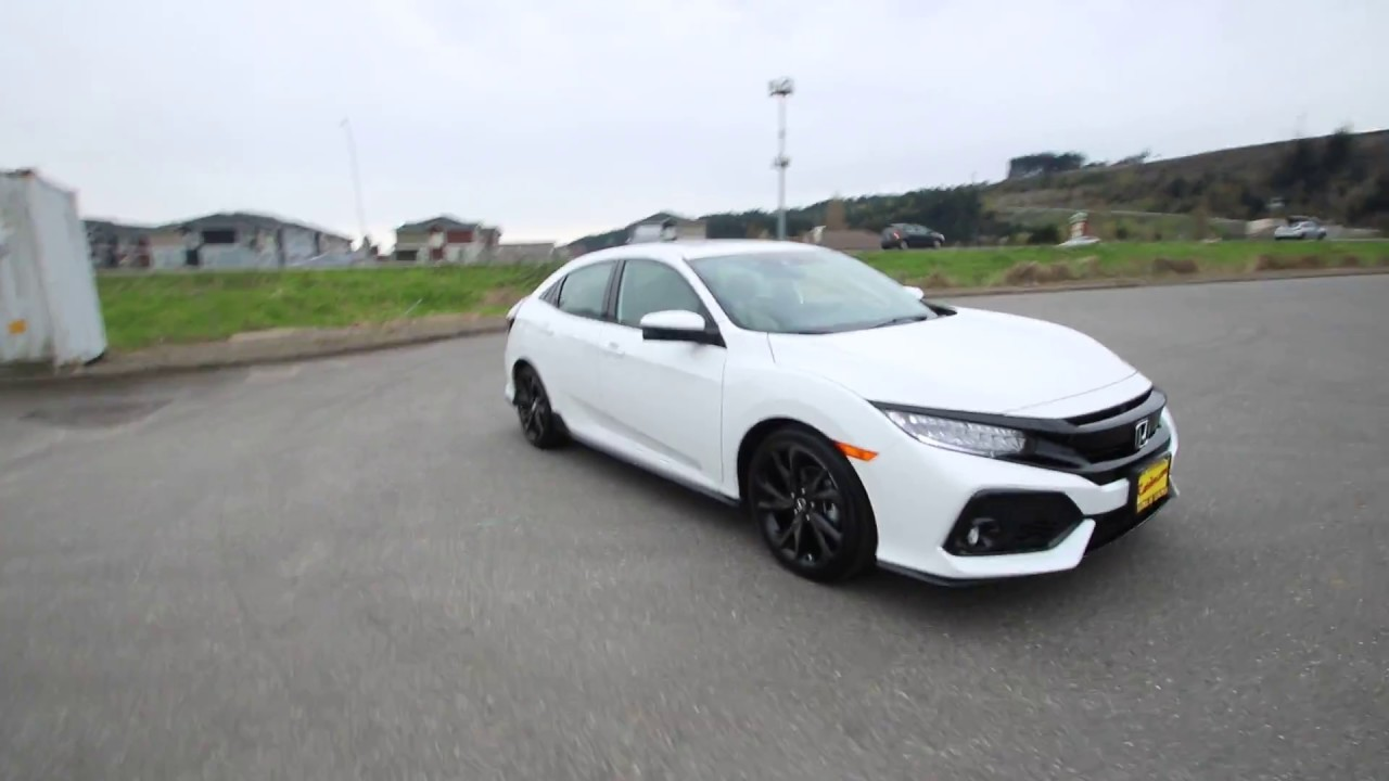 honda civic sport white orchid pearl hu seattle sumner youtube
