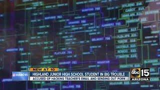Junior high student accused of sending porn through school system
