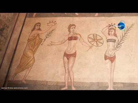 Italy, Sicily - Roman Villa In Piazza Armerina (Villa Romana Del Casale)- UNESCO World Heritage Site