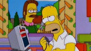 Computadora mata a Flanders- Los Simpson-