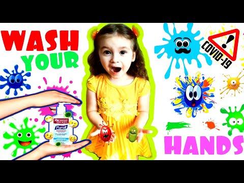 История как все дети мира моют руки с мылом. Оставайтесь дома