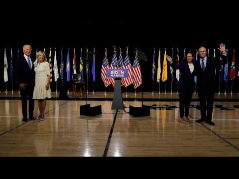 الولايات المتحدة: جو بايدن وكامالا هاريس ينتقدان سياسات ترامب ويعدان بـ-إعادة بناء- البلاد  - نشر قبل 6 ساعة