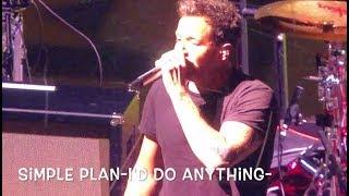 Simple Plan au Centre Vidéotron, le 9 août 2018-I'd do anything-