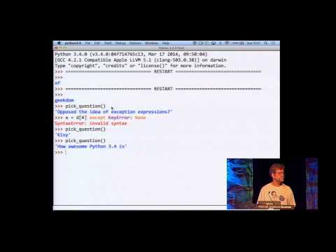 Guido Van Rossum - Keynote 05 - PyCon 2014