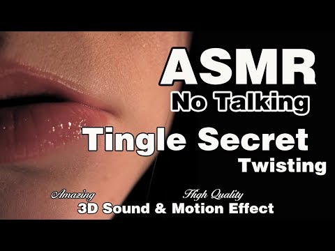 ASMR Tingle Secret |twisting and brush  |No Talking|3D High Quality