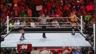 The Miz Vs. United States Champion Santino Marella - Beat The Clock Challenge - WWE RAW 4/30/12