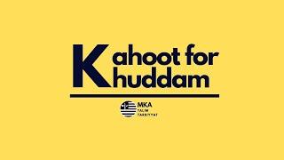 Live Kahoot for Khuddam #3