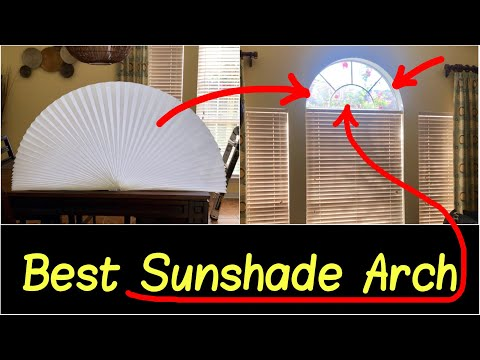 ✅Best Window Arch Shade | Sun Light Filtering Shade Privacy Arch Fabric for Half Round Windows