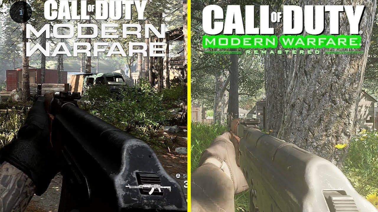 Call of Duty Modern Warfare 2019 vs 2016 Modern Warfare Remastered +  Confirmed Weapons