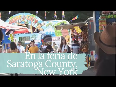 En la feria de Saratoga County, New York