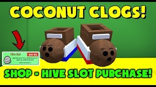 COCONUT CLOGS! ROBUX HIVE SLOT PURCHASE! - Bee Swarm Simulator