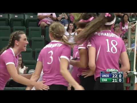 Dig Pink - Charlotte Volleyball vs UNCG Highlights