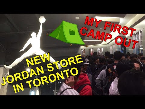 Jordan Store Opening at Toronto || My first sneaker camp out experience